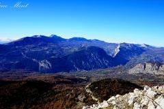Sicht auf das Pollino-Massiv