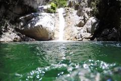 Der Wasserfall der Fiumara Assi